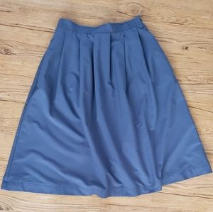 Vintage L.L Bean Steel Blue Midi Skirt w/Pockets